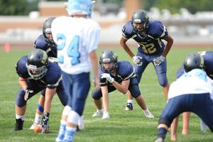 Knoch Middle School football players