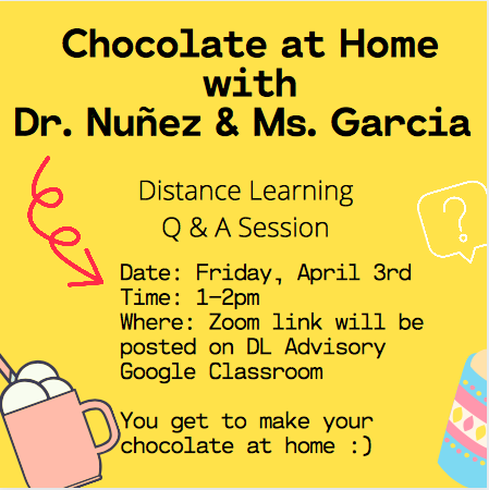 Chocolate at Home with Dr. Nunez & Ms. Garcia Thumbnail Image