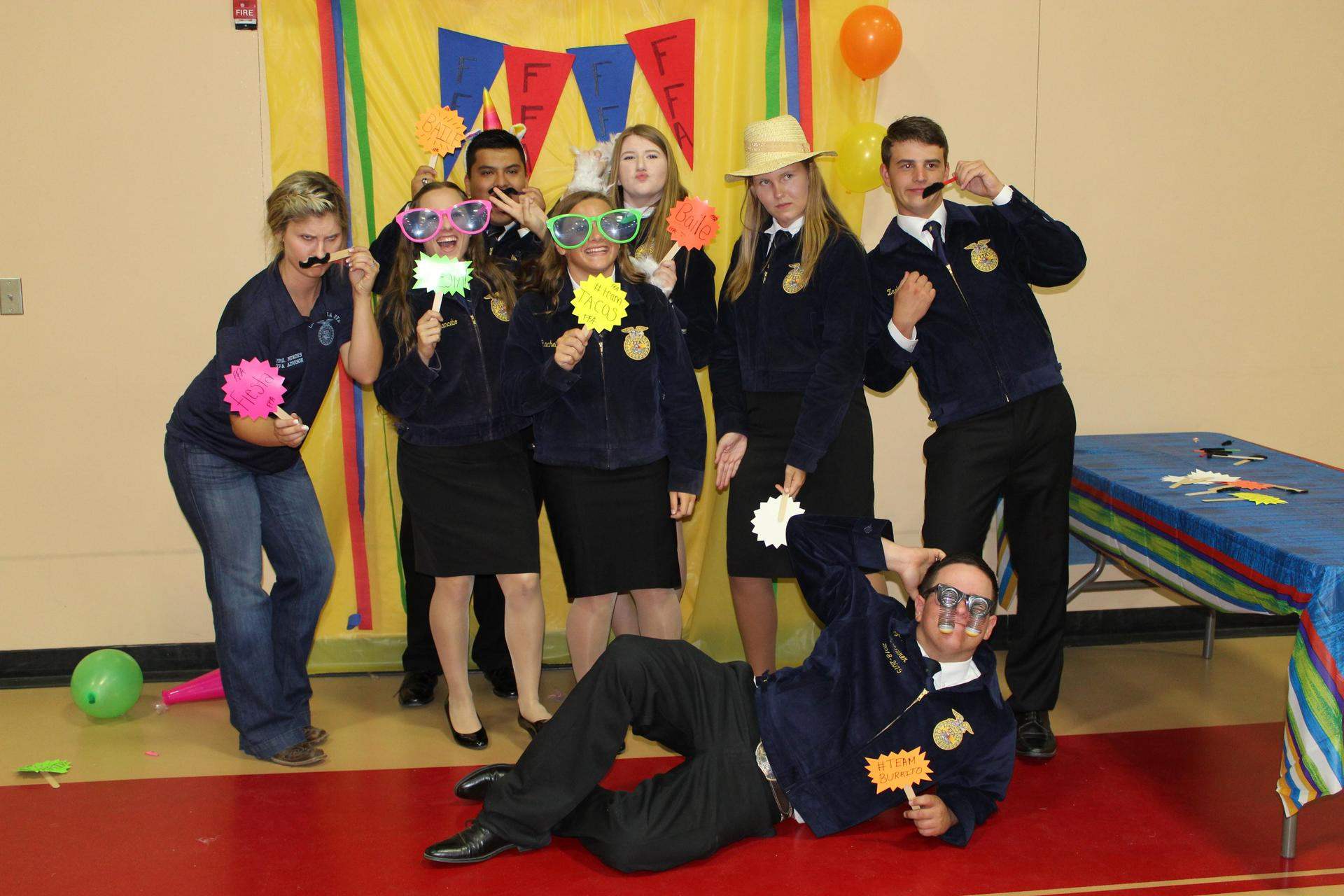 Students at the September FFA meeting
