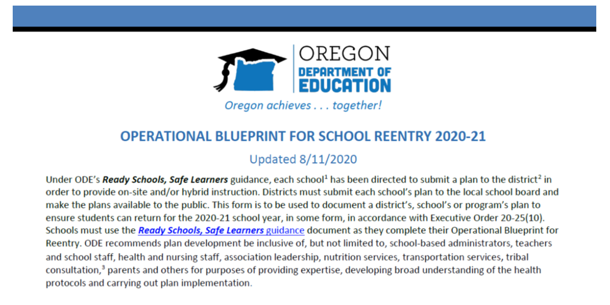Ready Schools Safe Learners PCS Blueprint