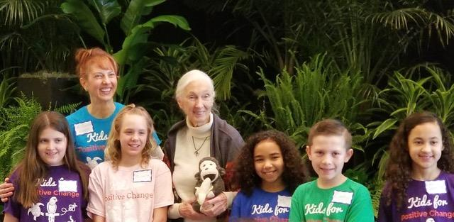 Kids for Positive Change AACS students meet Jane Goodall! Featured Photo
