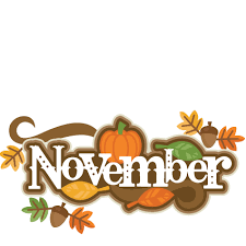 November Calendar/ Calendario de noviembre Featured Photo