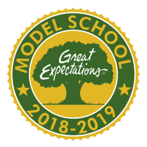 Great Expectations Model school badge 2018-2019