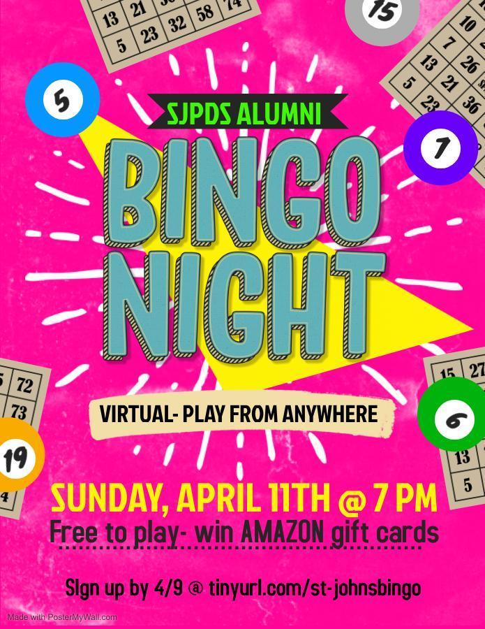 alumni bingo flyer