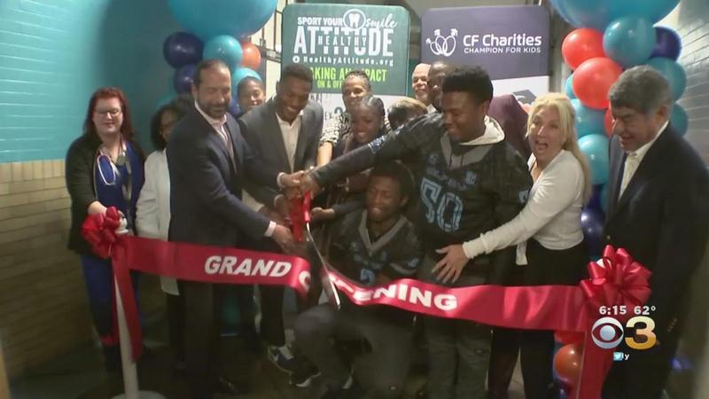 Eagles' Rodney McLeod Cuts Ribbon On First-Of-Its-Kind Health And Wellness Center At Olney Charter High School Featured Photo