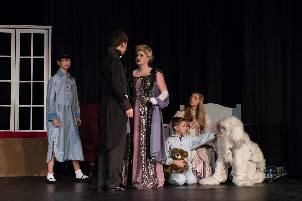 Students performing Peter Pan the musical