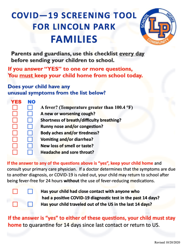 Health Screening for Attending School Thumbnail Image