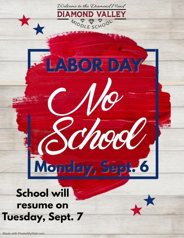 Labor Day-No School 9/6