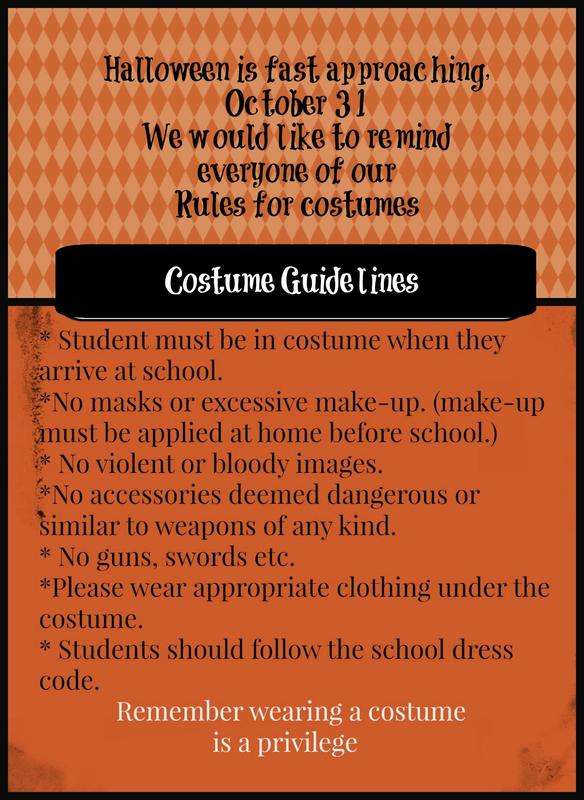 Halloween Costume Guidelines Thumbnail Image