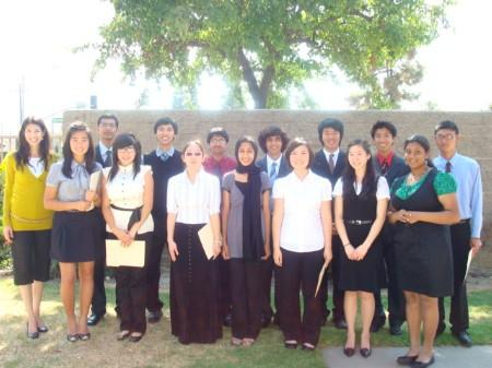 14 students with teacher