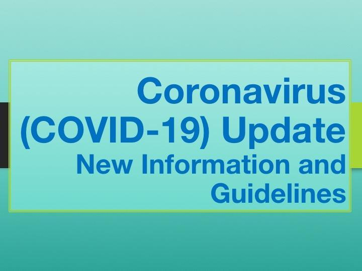 Coronavirus (COVID-19) Precautions Update Featured Photo