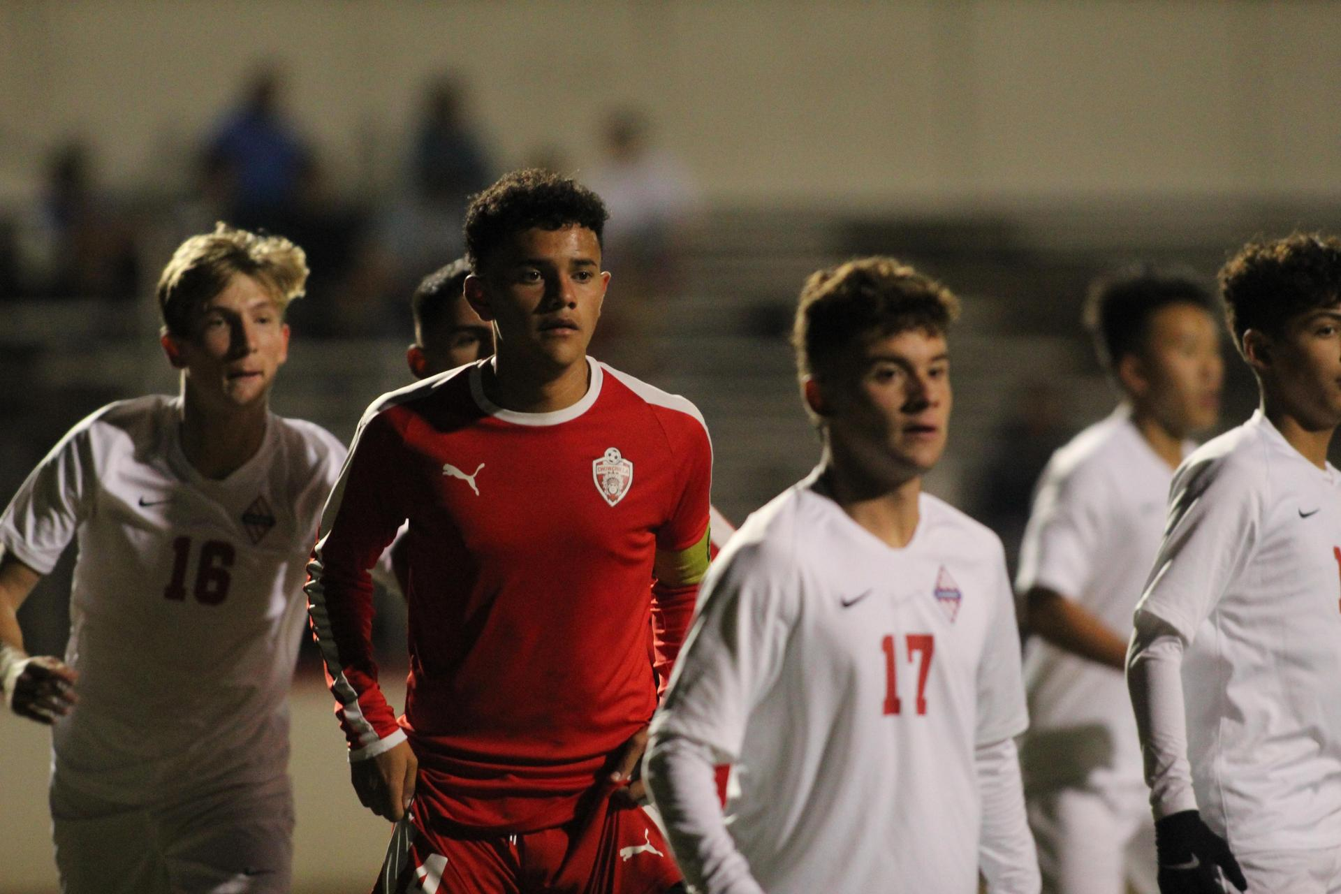 Antonio Ochoa looking down the field