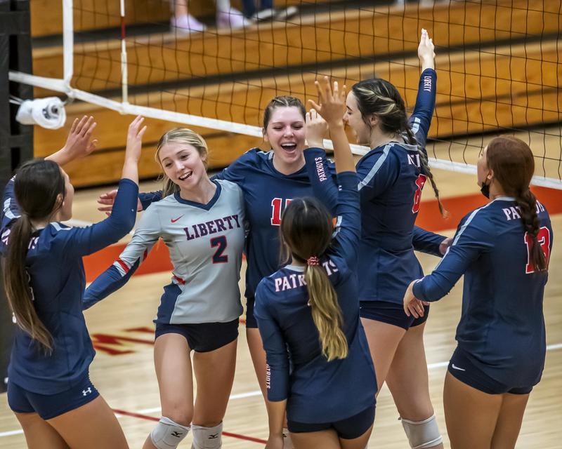 Liberty volleyball team defeats archrival Centennial Thumbnail Image
