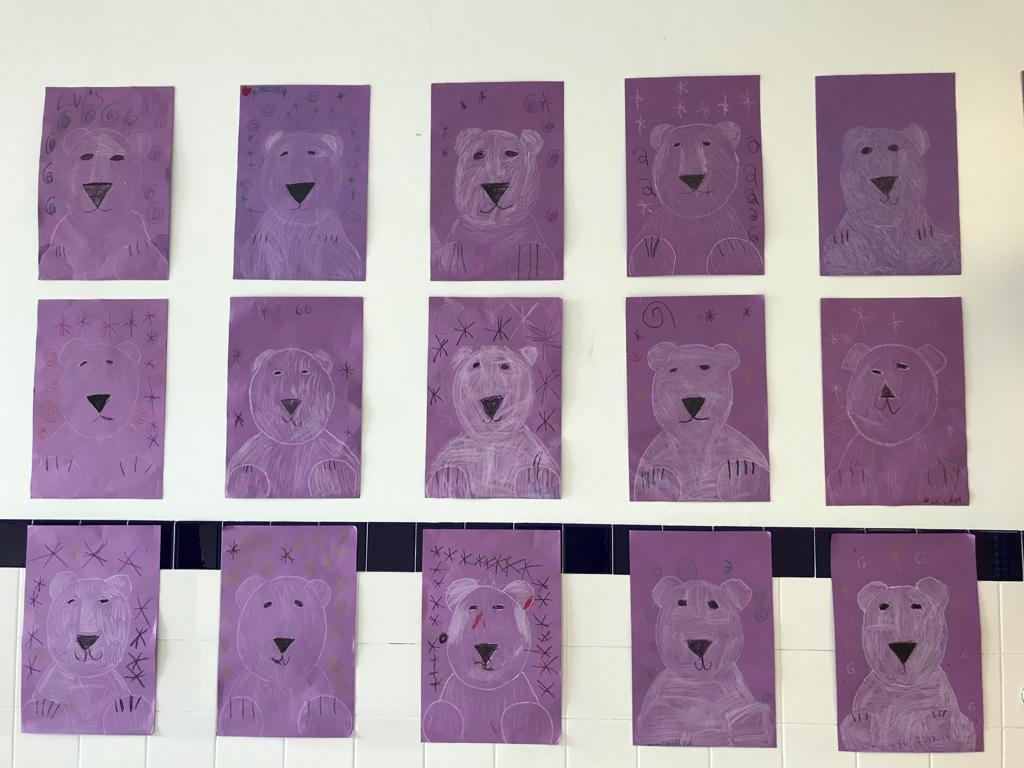 Polar bear artwork display