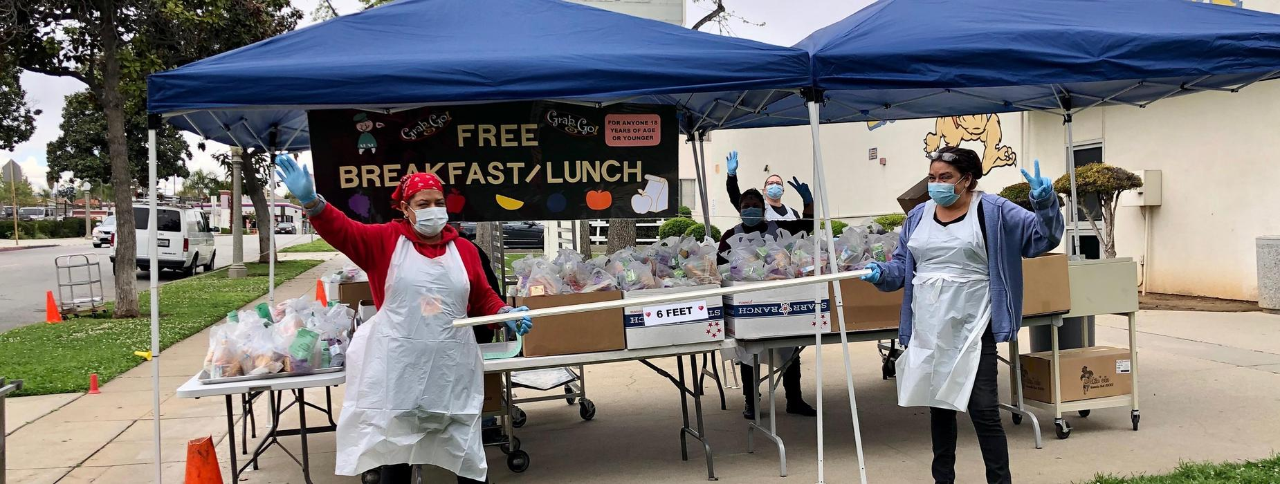 Food and Nutrition Heroes serving breakfast and lunch