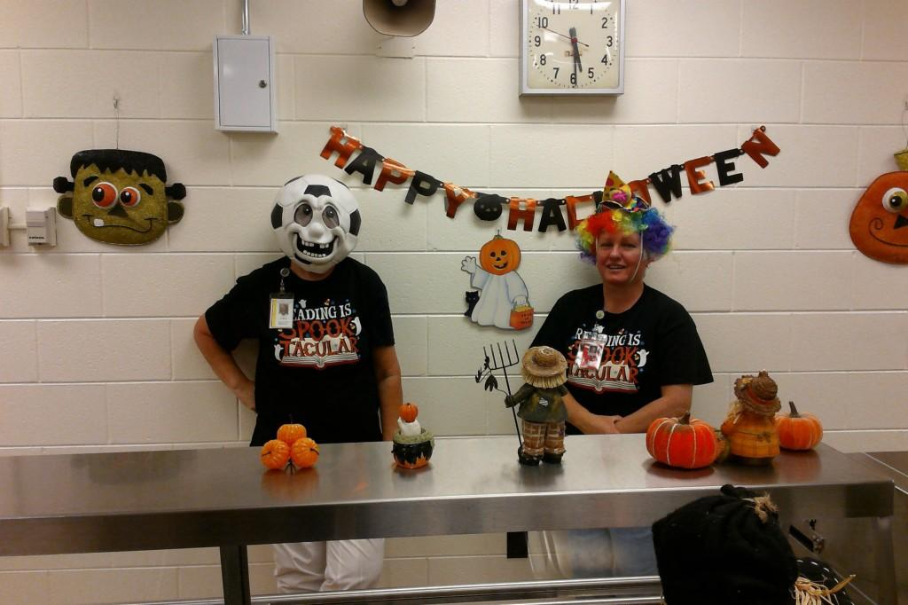 Dressing up for Halloween was enjoyable for the staff as well as the students