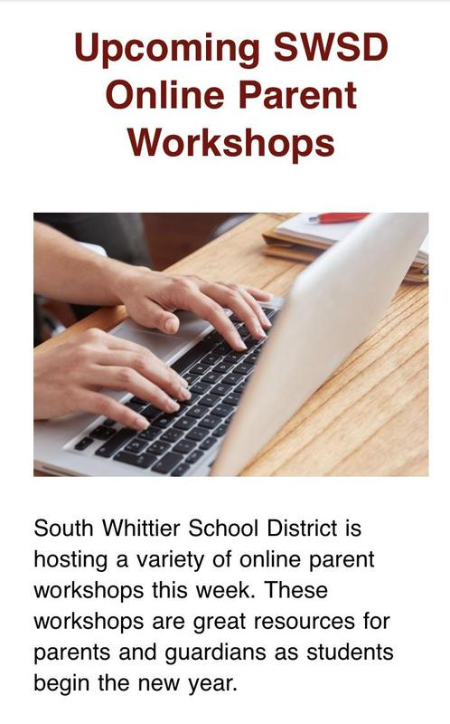 Parent Workshops! August 18th and 19th Featured Photo