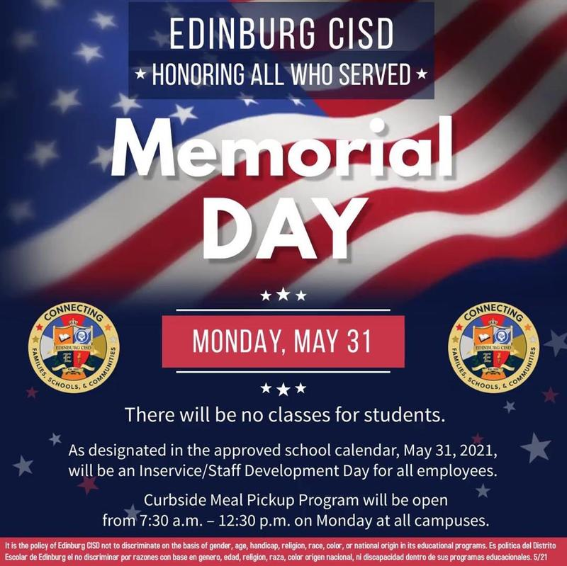 Image of Memorial Day flyer