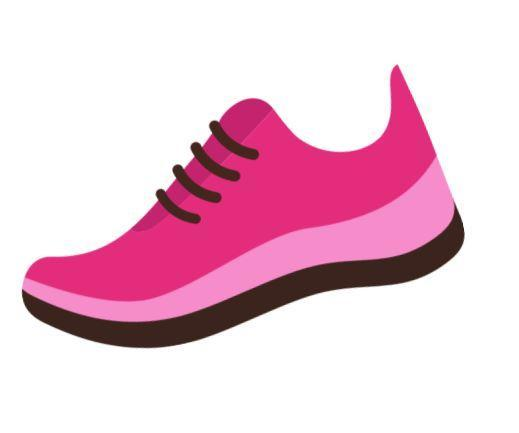 Pink and black running shoe
