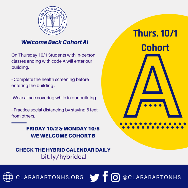 Cohort A in-person classes poster