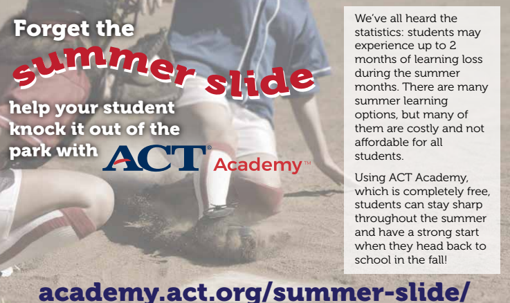ACT Academy introduction to summer resources