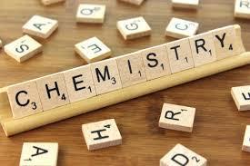 Scrabble blocks spelling 'chemistry'