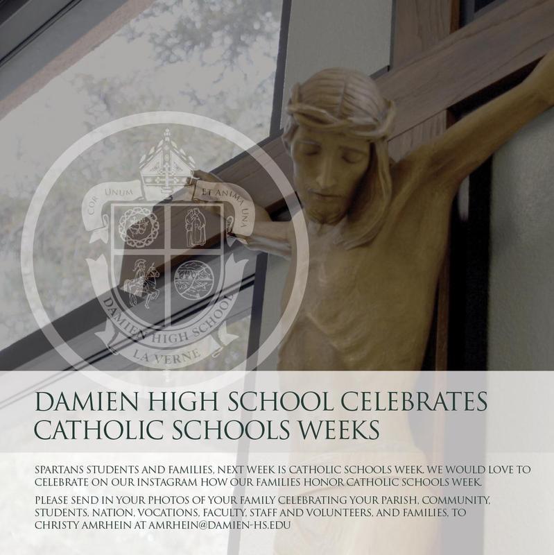 Damien Celebrates Catholic Schools Week, Jan 31 - Feb 6 Featured Photo