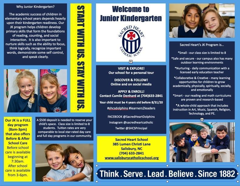 Sacred Heart Opens A NEW Junior Kindergarten Program 2020-2021 Featured Photo