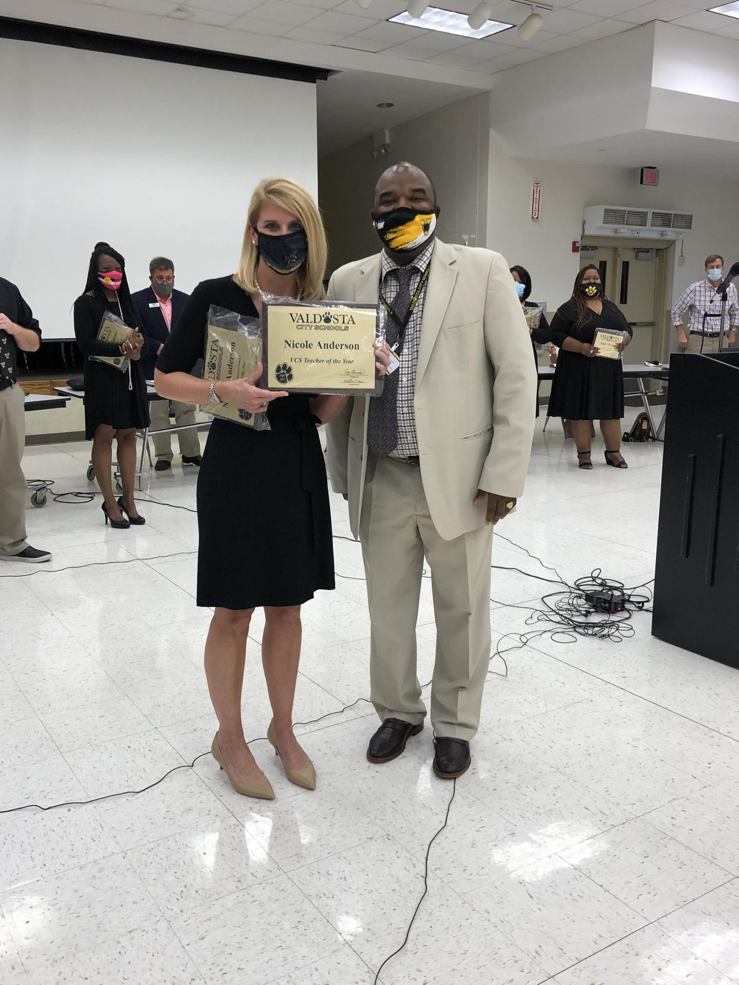 Nicole Anderson, 2020.21 VCS Teacher of the Year