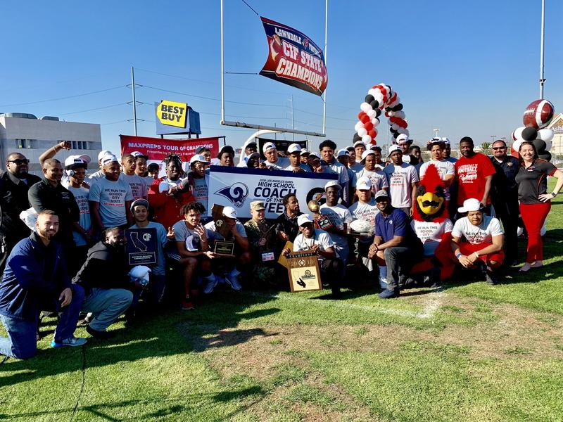 Lawndale High School Football Team Honored by MaxPreps and National Guard for Being Named Top 50 in the Nation Thumbnail Image
