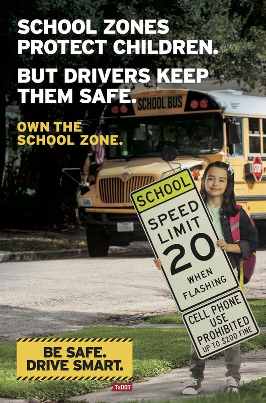 SCHOOL ZONE SAFETY POSTER