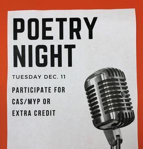 Poetry Night flyer