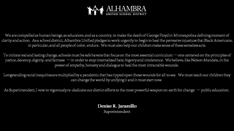 Statement from Superintendent Jaramillo on George Floyd & Injustice Featured Photo