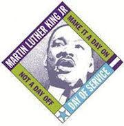 MLK Jr. Make it a day on, not a day off. Day of service