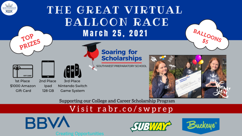 Join SWPREP for The Great Virtual Balloon Race on March 25, 2021 Featured Photo