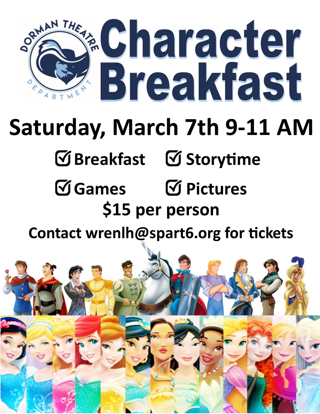 Character Breakfast ad