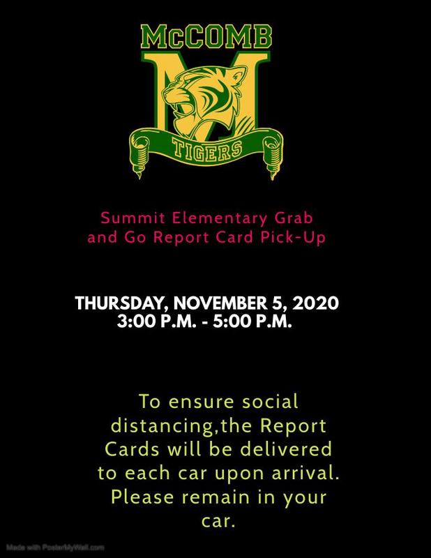 Summit Elementary  Grab and Go Report Card Pick-Up News 2020