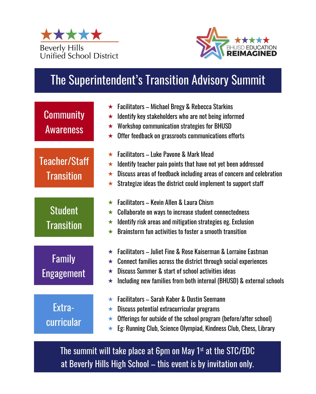 The Superintendent's Transition Advisory Summit Pg2