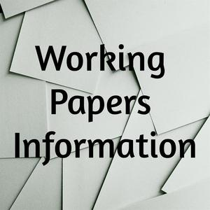 Working Papers Information Logo