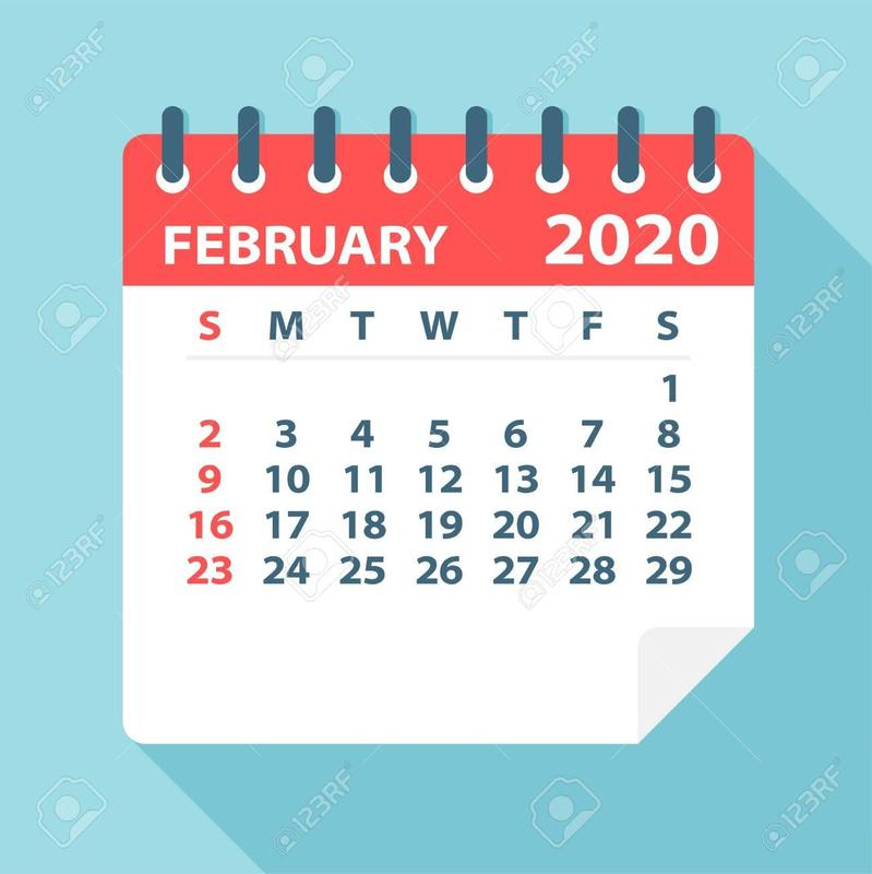 February calendar image