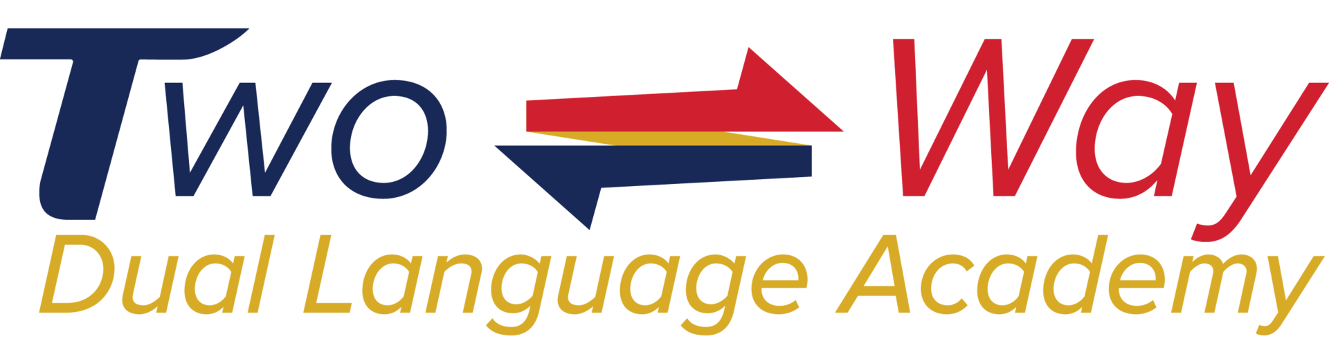 Two-way dual language academy logo