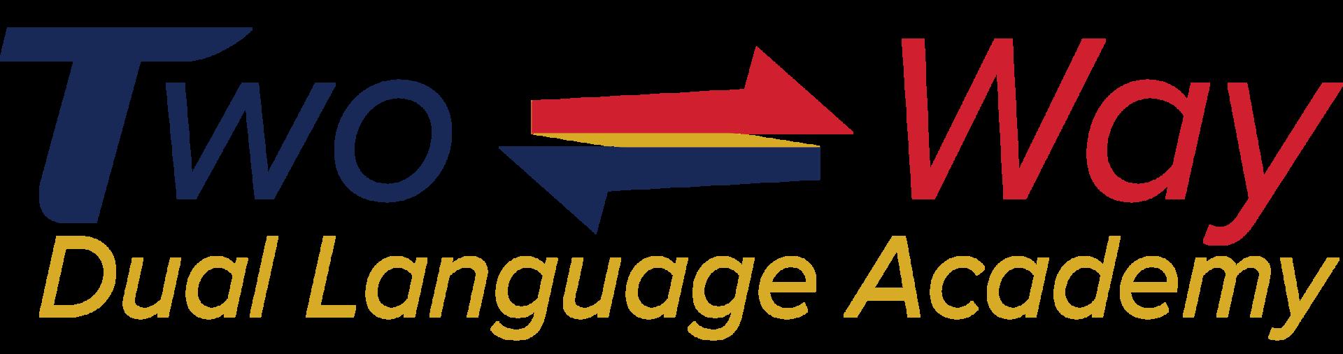 Two-way dual language academy logo