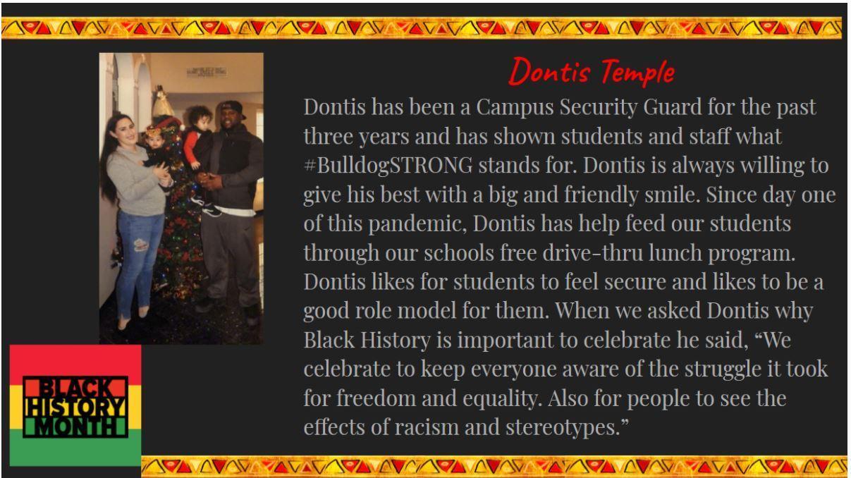 Black History Month Staff Spotlight: Dontis Temple