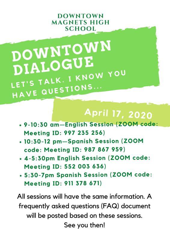 Downtown Dialogue - April 17, 2020 Featured Photo
