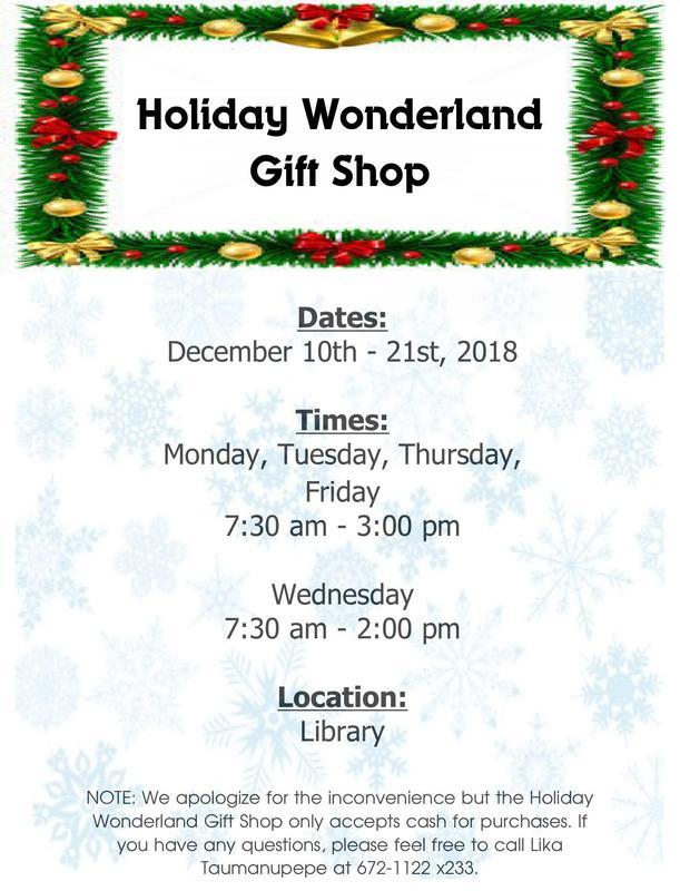 Holiday Wonderland Gift Shop,                  December 10-21, 2018 Featured Photo