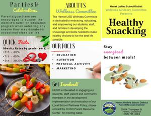 Healthy Snacking Brochure page 1