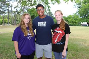 Pictured from left to right are the B-L High School Student Body Officers for the 2019-2020 school year:  Susan Taylor (Vice-President), Shanez Padgett (President), Morgan Price (Secretary/Treasurer).