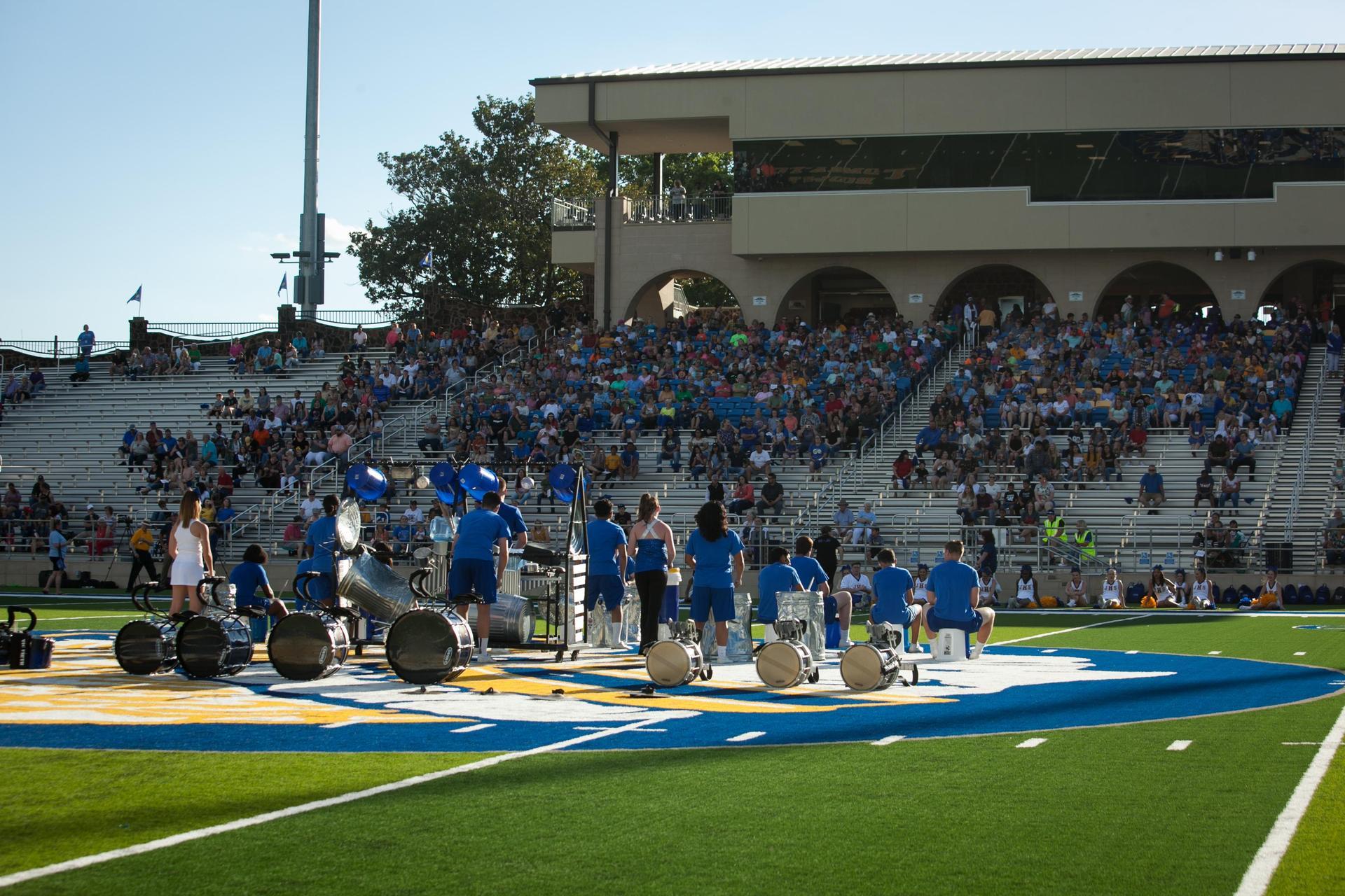 High School Band Street Drumline
