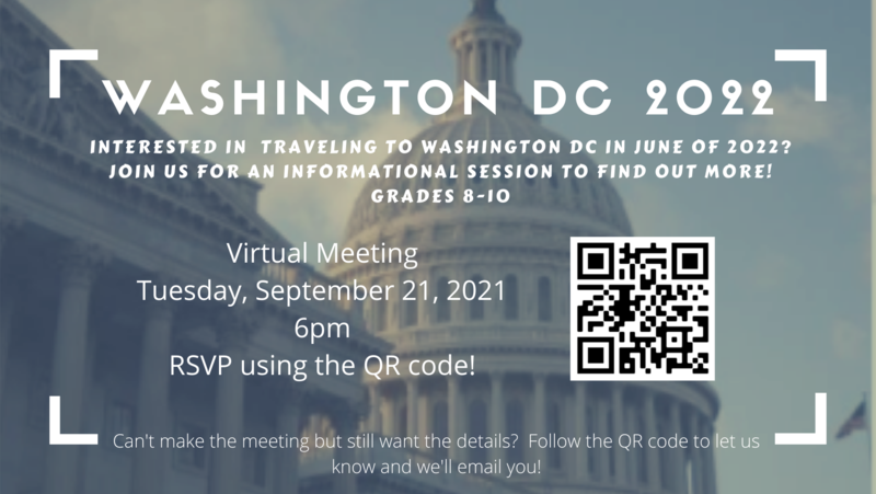 Interested in traveling to Washington DC in June of 2022? Featured Photo