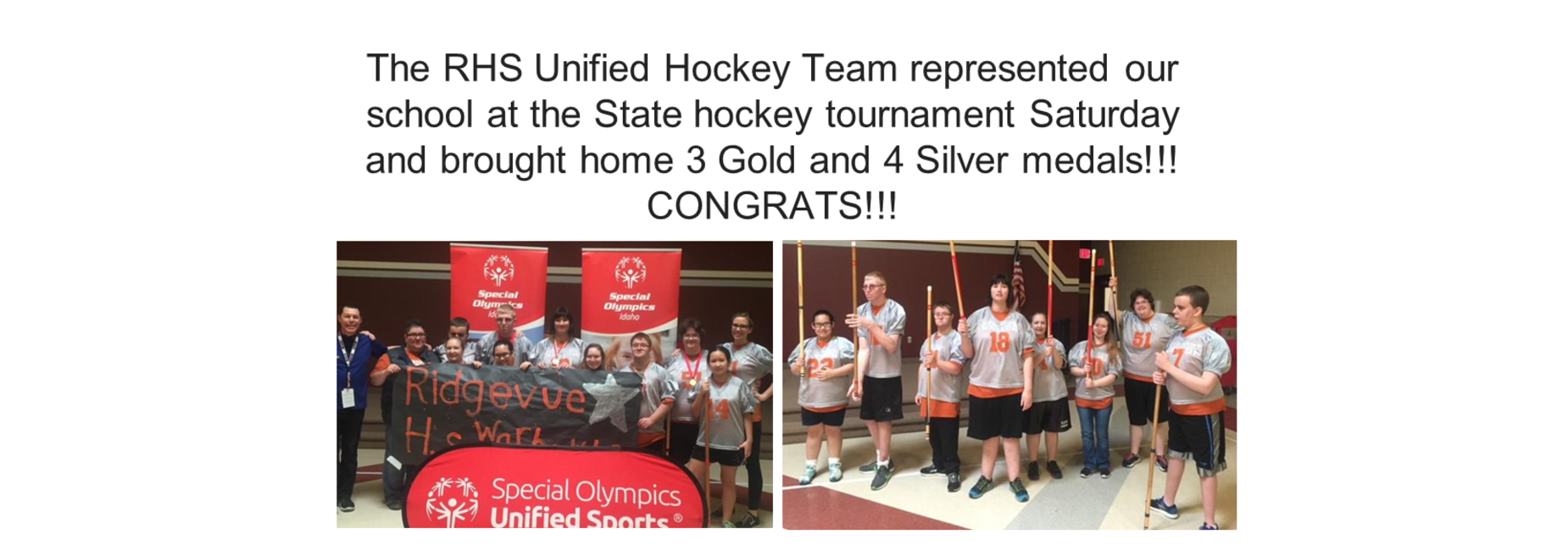 Unified Hockey Team wins medals